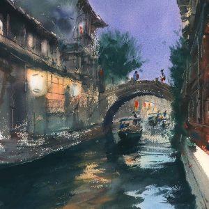 Zhouzhuang miasto obrazy