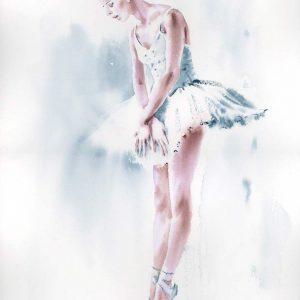obrazy akwarela tancerka baletnica galeria online