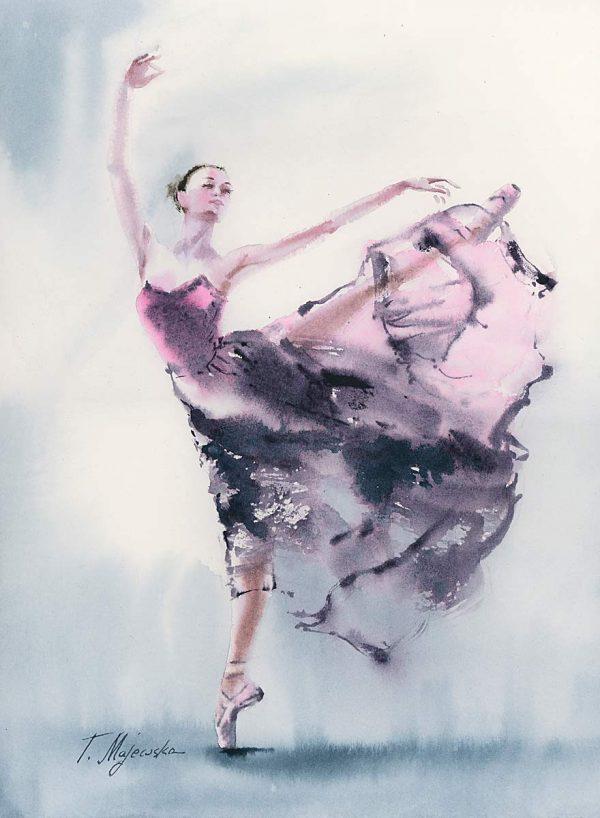 tancerka baletnica obrazy do domu akwarela Tatiana Majewska galeria
