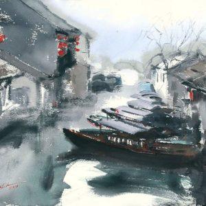 Zhouzhuang Sprawdź obrazy do domu i do biura.