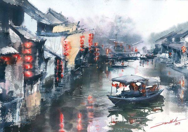 zhouzhuang obrazy Akwarela minh dam galeria
